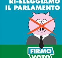 Una firma per scegliere liberamente i nostri rappresentanti in Parlamento