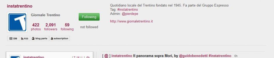 """Oggi sul quotidiano on-line """"IL TRENTINO"""" è di casa il """"Panorama da Maso Naranc in Val di Gresta"""""""