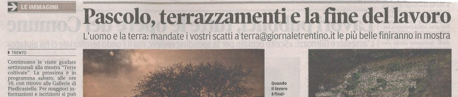 """""""Un popol tenace produce la terra"""" su IL TRENTINO del 19 marzo 2014"""