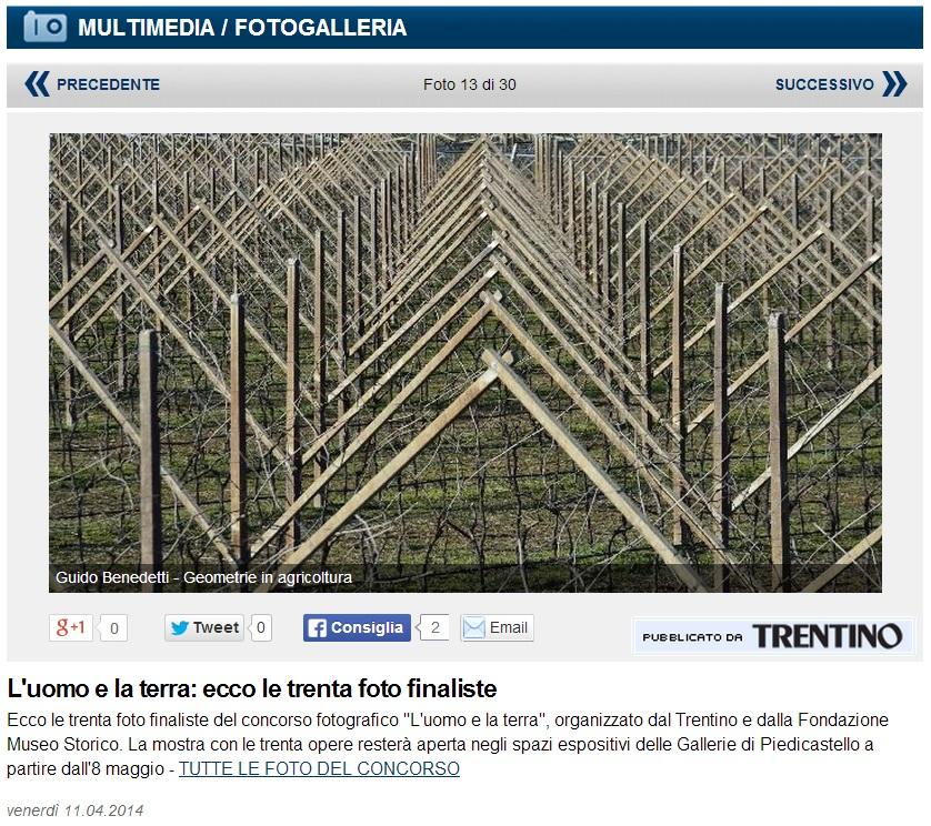 """""""Geometrie in agricoltura"""" è finalista al concorso fotografico """"L'uomo e la terra""""!"""