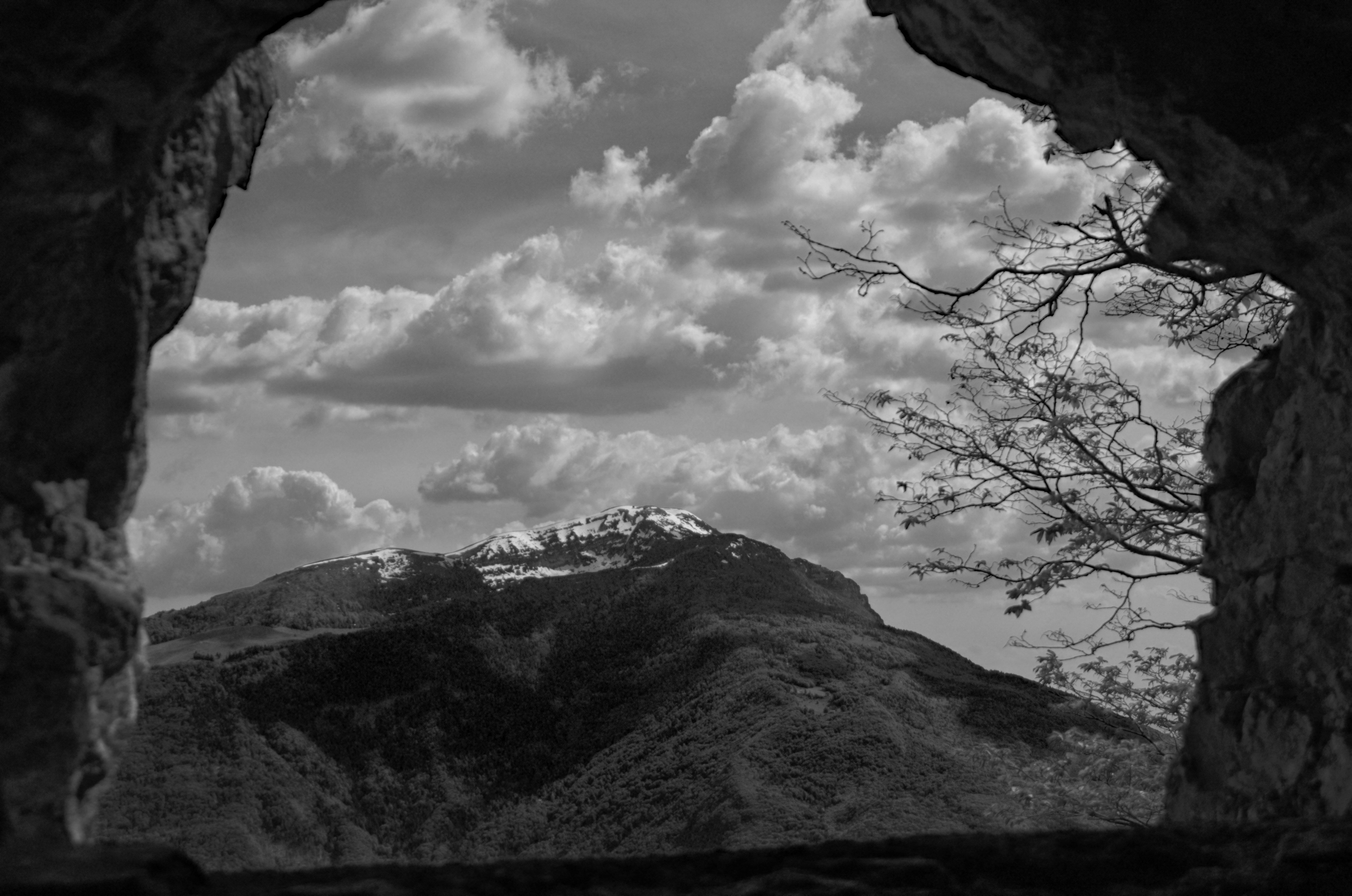 Cima Altissimo vista dal caposaldo austriaco del monte Creino