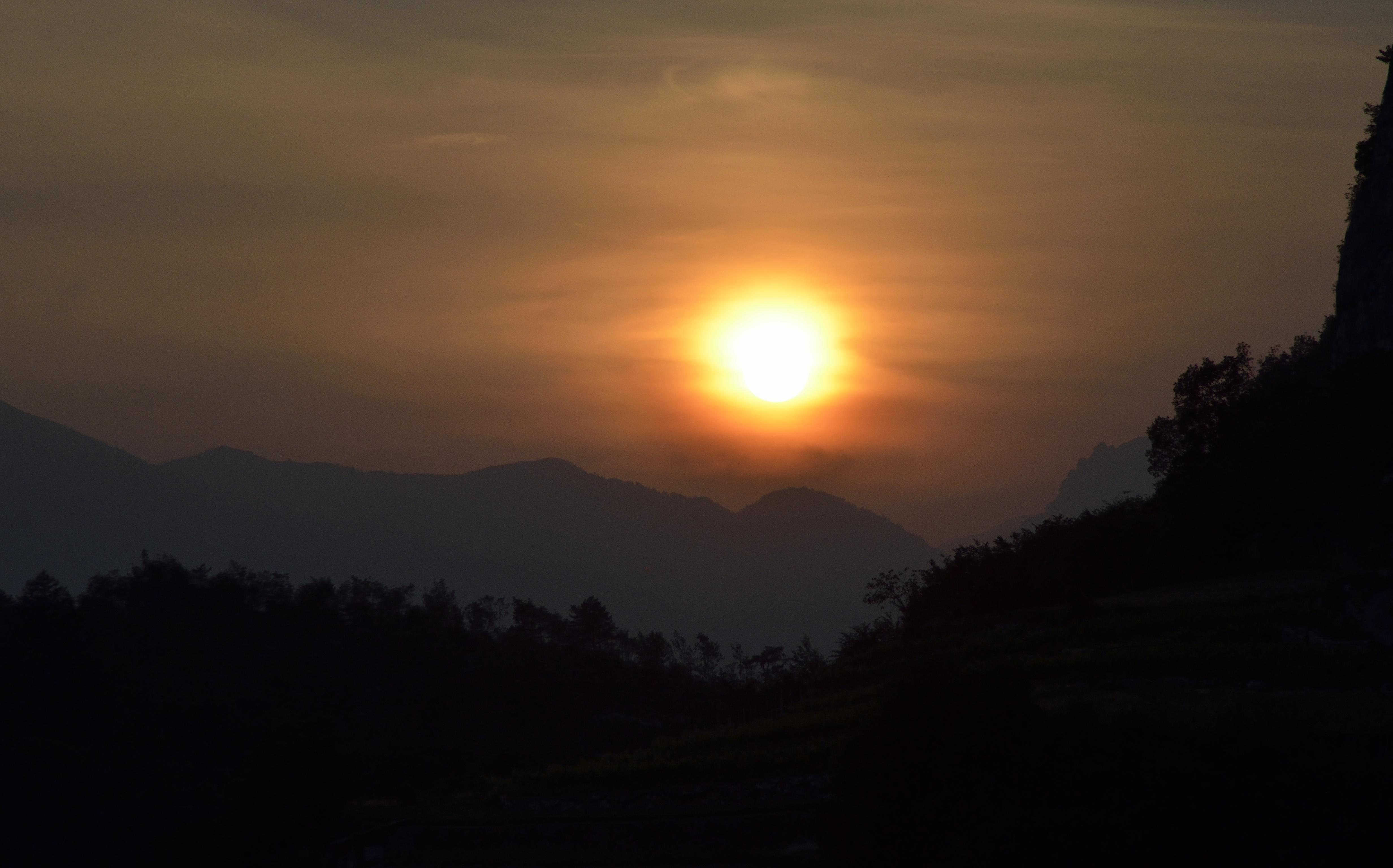 Tramonto dalla Val di Gresta
