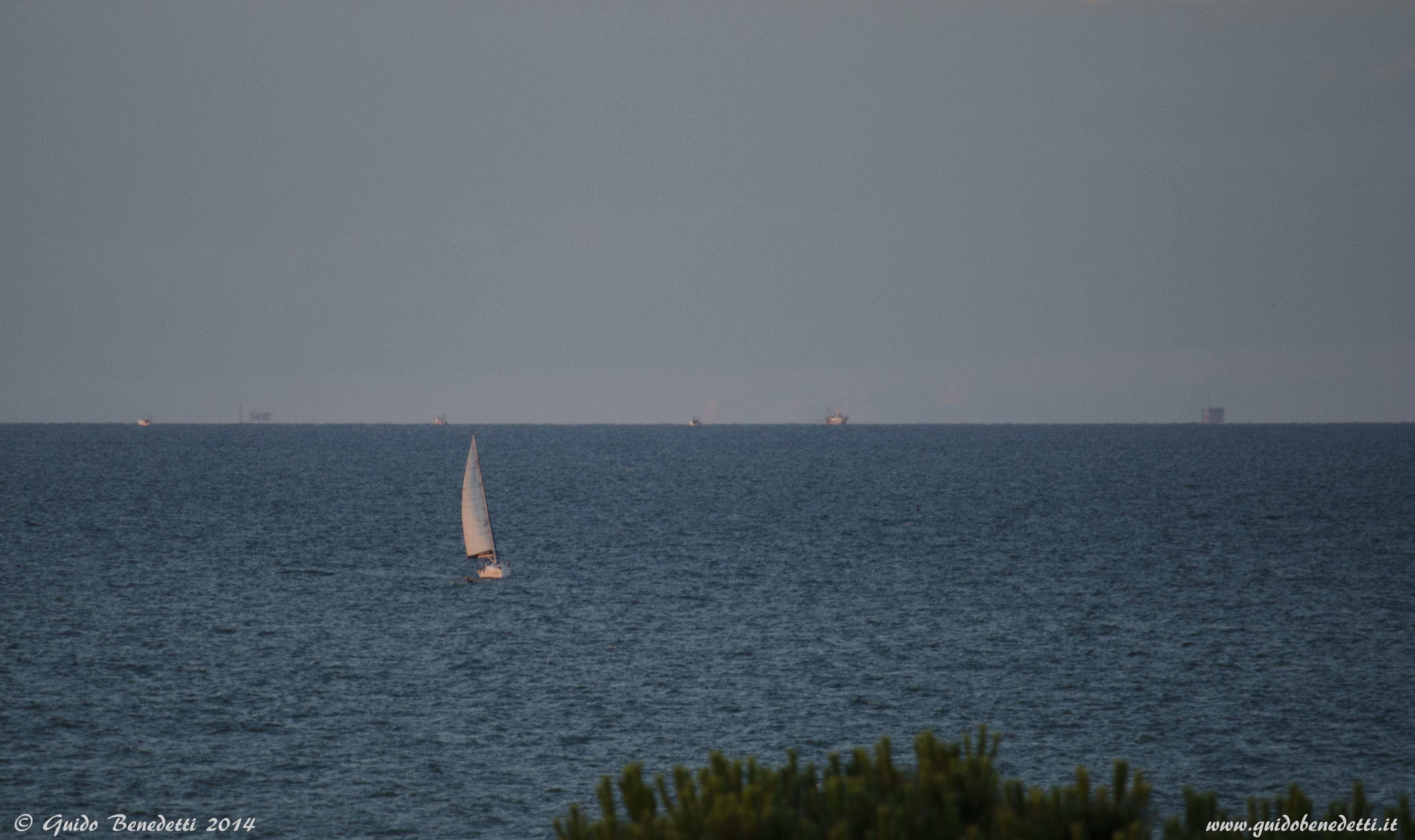 Vista sul mare dal solarium dell'hotel President