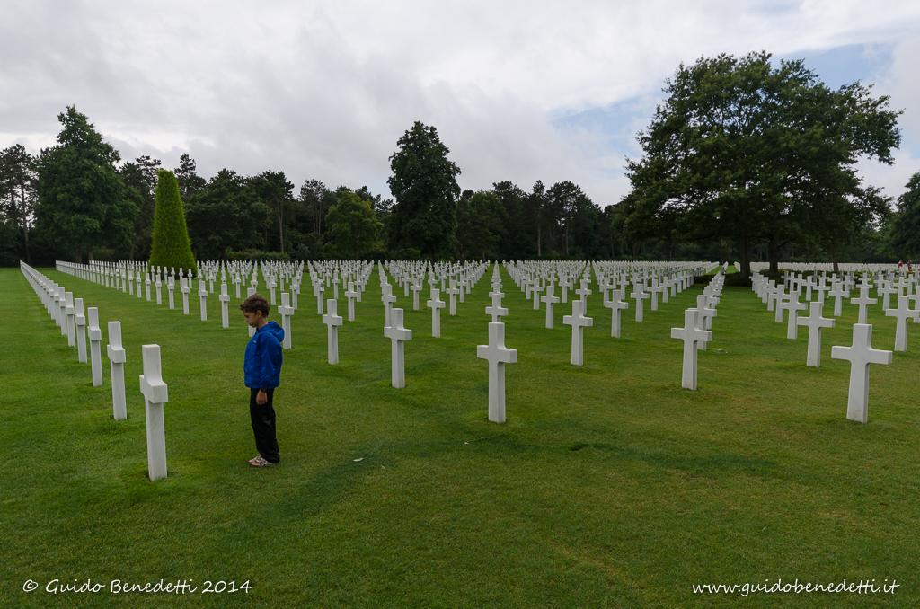In visita al cimitero americano di Omaha beach