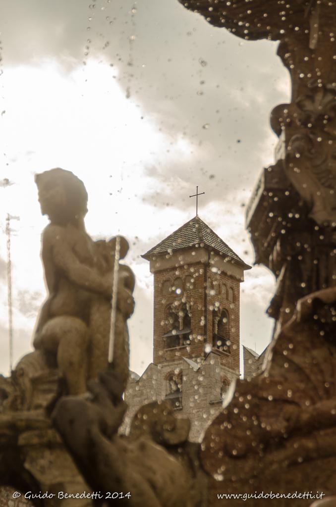 Fontana del Nettuno in Piazza Duomo a Trento
