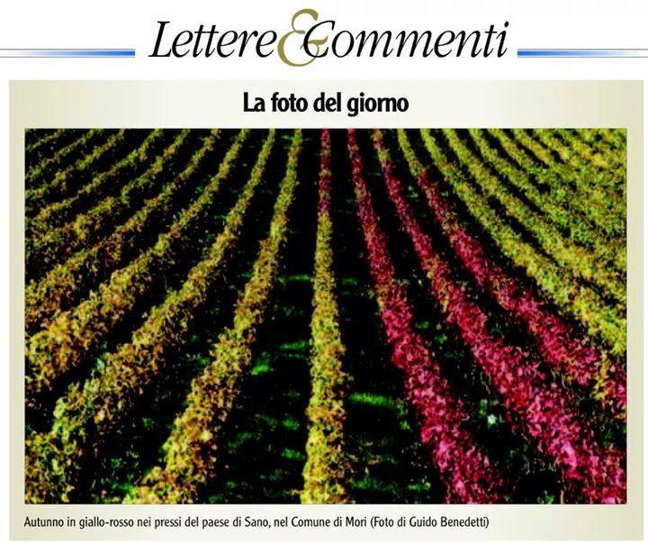 """""""Autunno in giallo-rosso"""" sul quotidiano L'ADIGE del 27 ottobre 2014"""