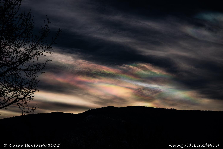 "Aurora ""boreale"" al 46° parallelo"