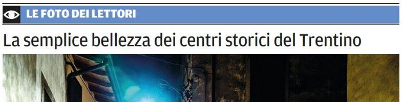 """""""Luci e colori in vicolo degli Orti"""" oggi sul quotidiano IL TRENTINO"""