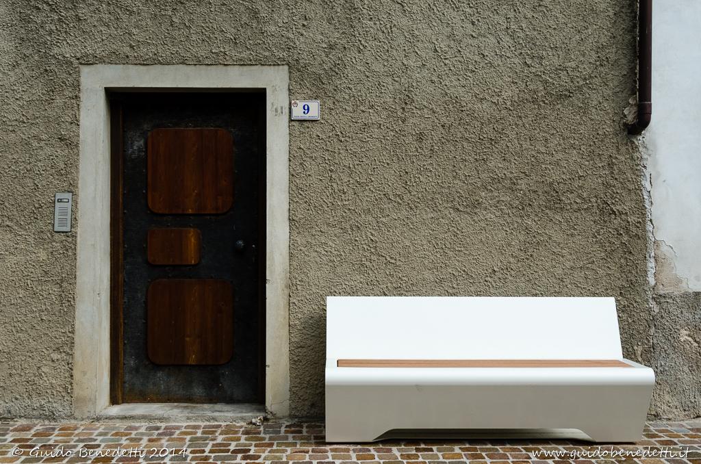 Panchina con porta