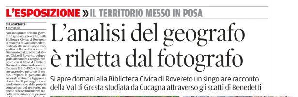 L'analisi del geografo è riletta dal fotografo (di Luca Chistè)